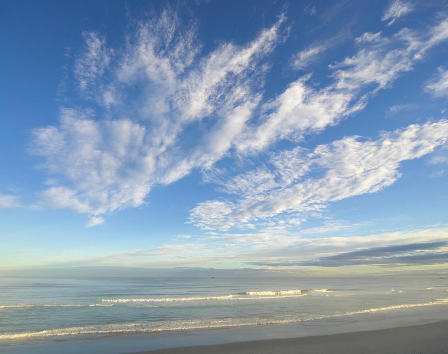 Waves Breaking On Beach, Dusk Photograph by Eastcott Momatiuk