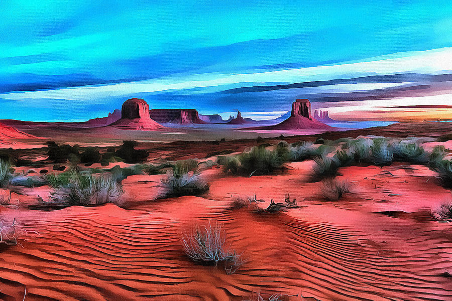 Waves in the Sand by Fine Art Western Paintings