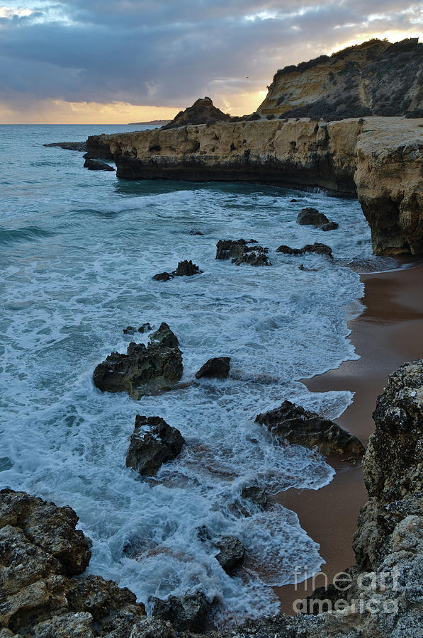 Waves near Aveiros Beach during Sunset by Angelo DeVal