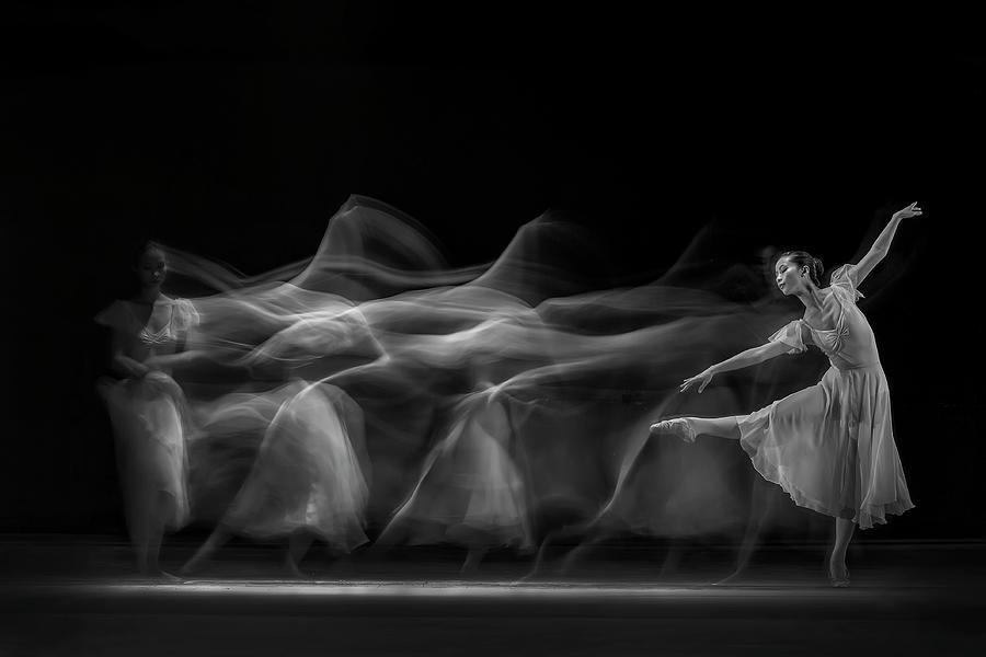 Ballerina Photograph - Waves Of Balerina by Antonyus Bunjamin (abe)