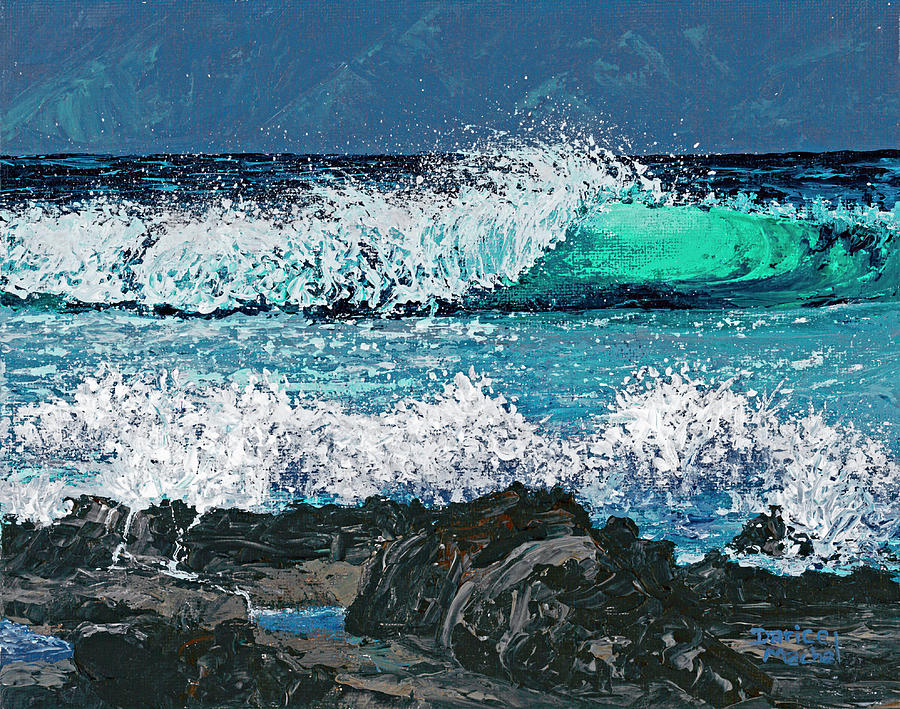 Waves On Napili Bay by Darice Machel McGuire
