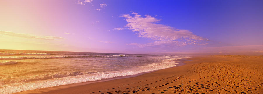 Horizontal Photograph - Waves On The Beach, North Beach, Point by Panoramic Images