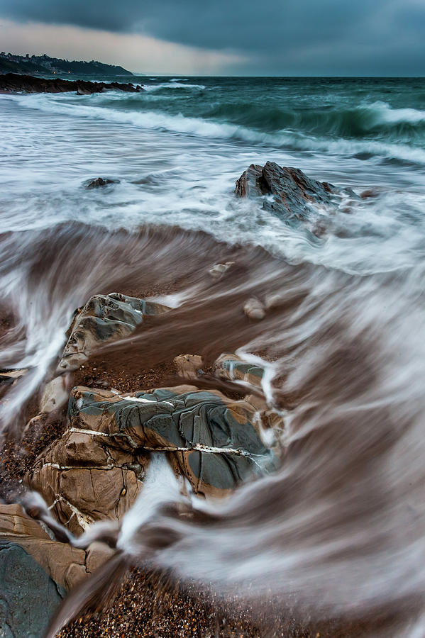 Waves Swirling Around Rocks Photograph by © Francois Marclay