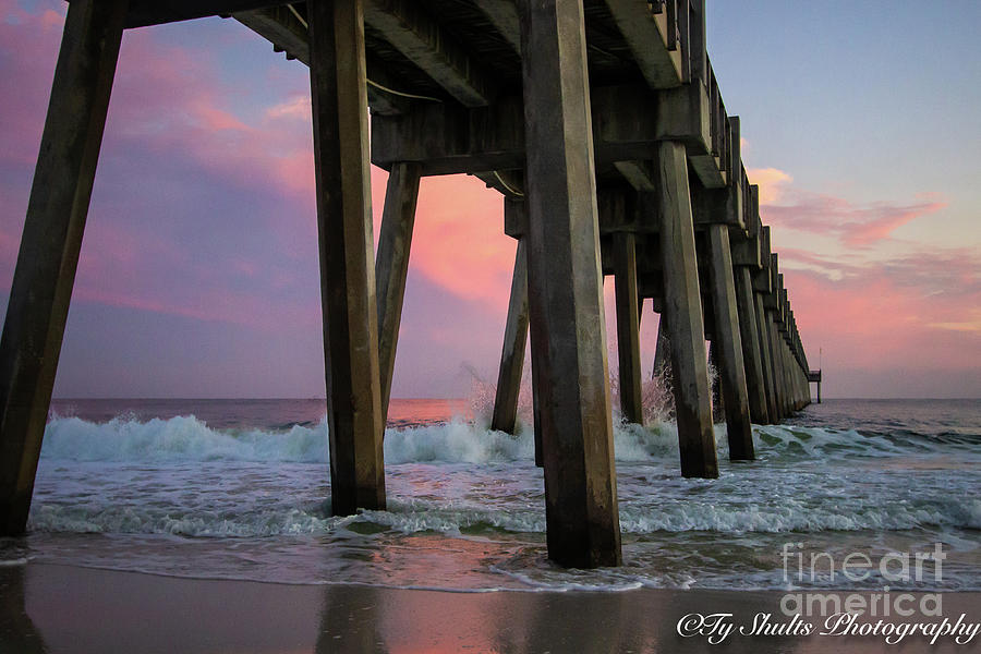 Waves Under the Pier by Ty Shults
