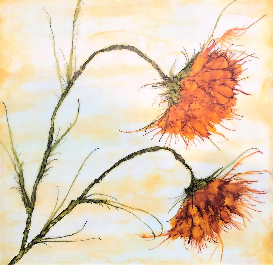 Flowers Painting - Waving Marigolds by Christine Johanns