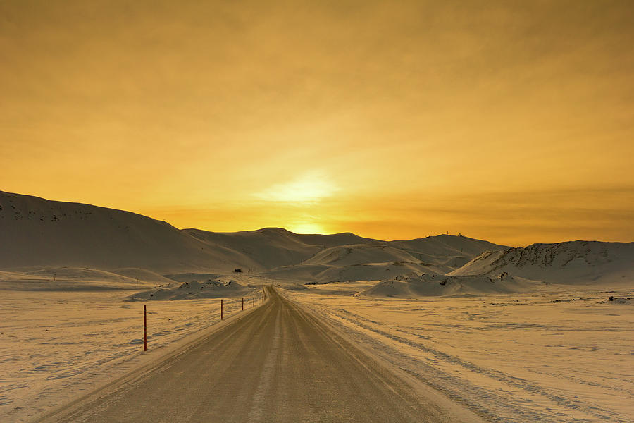 Way To Snowy Mountains Photograph by Gulli Vals