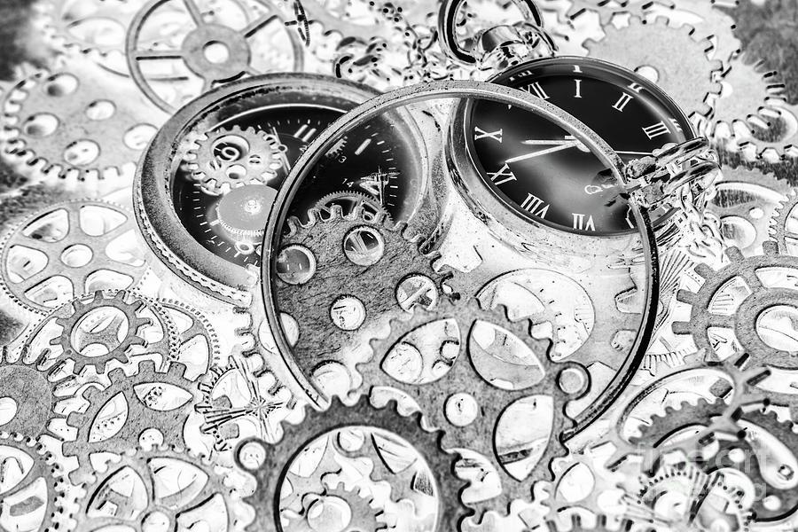 Mechanism Photograph - Wayback Watch Workshop by Jorgo Photography - Wall Art Gallery