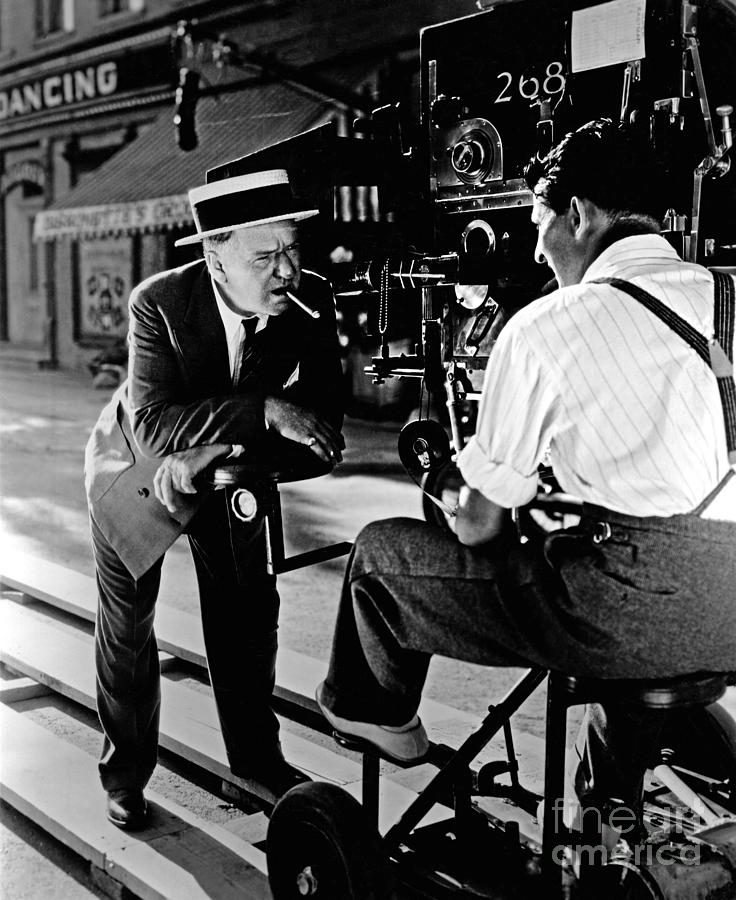 W.c. Fields Photograph - W.C. Fields - candid - on the set by Sad Hill - Bizarre Los Angeles Archive