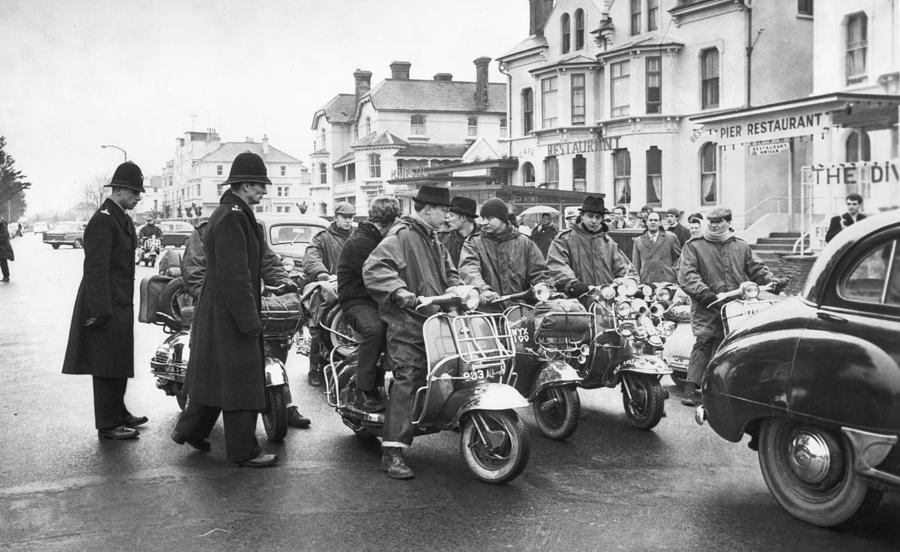 We Are The Mods Photograph by Terry Disney
