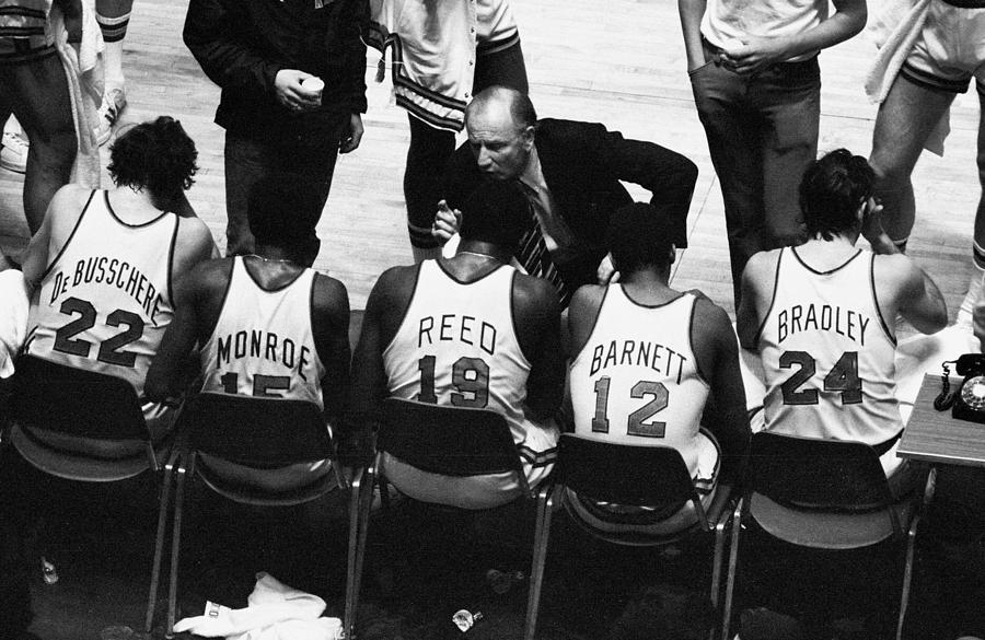 We Prefer Knicks 2 To 1. Coach Red Photograph by New York Daily News Archive
