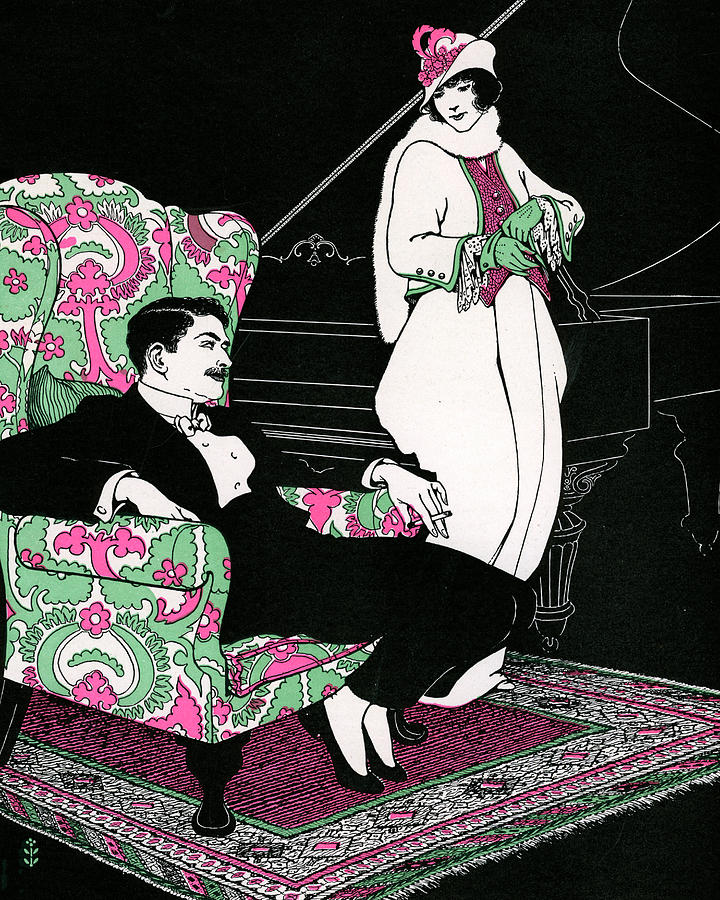 Wealthy Couple Leaving On Date Digital Art by Graphicaartis