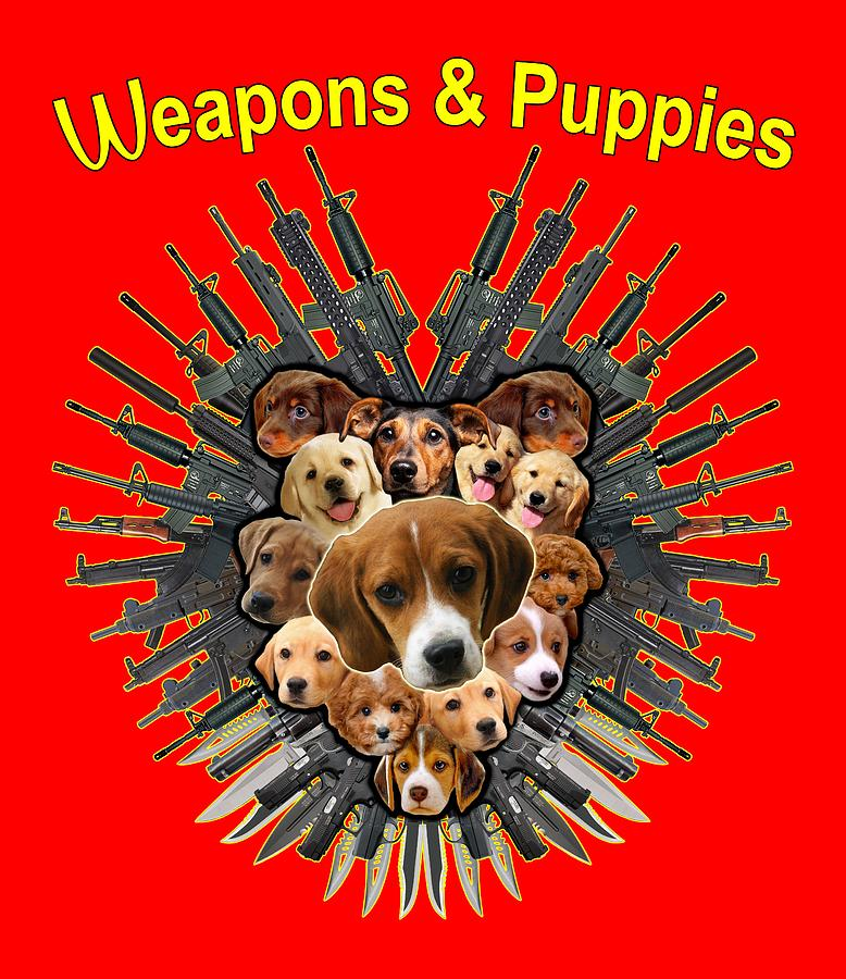 Weapon and Puppies by Yom Tov Blumenthal