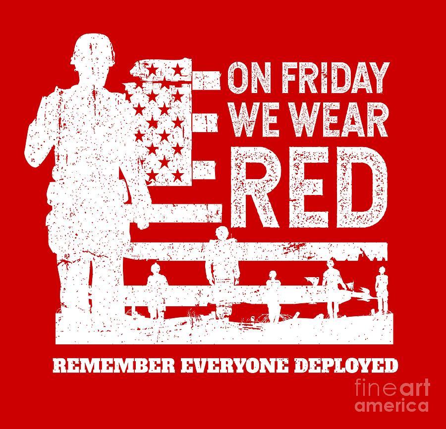 0c07edafb Wear Red Friday Digital Art By Studiometzger