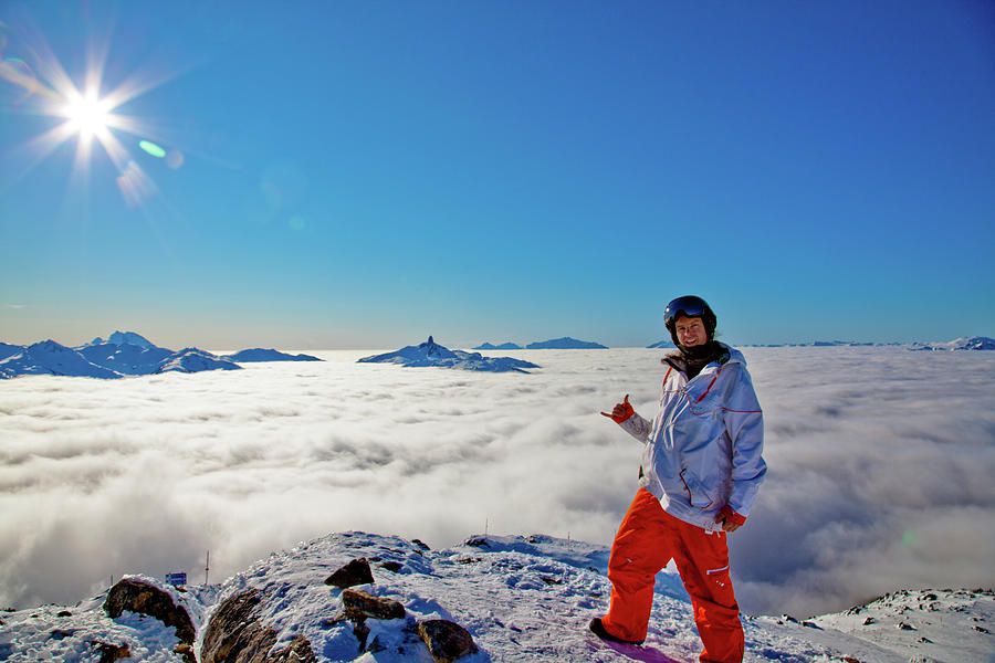 Weather Inversion Black Tusk Photograph by Marcus Richardson