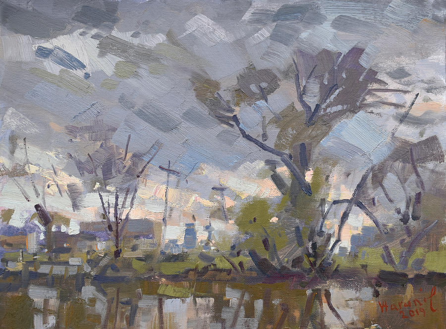 Landscape Painting - Weather Mood by Ylli Haruni