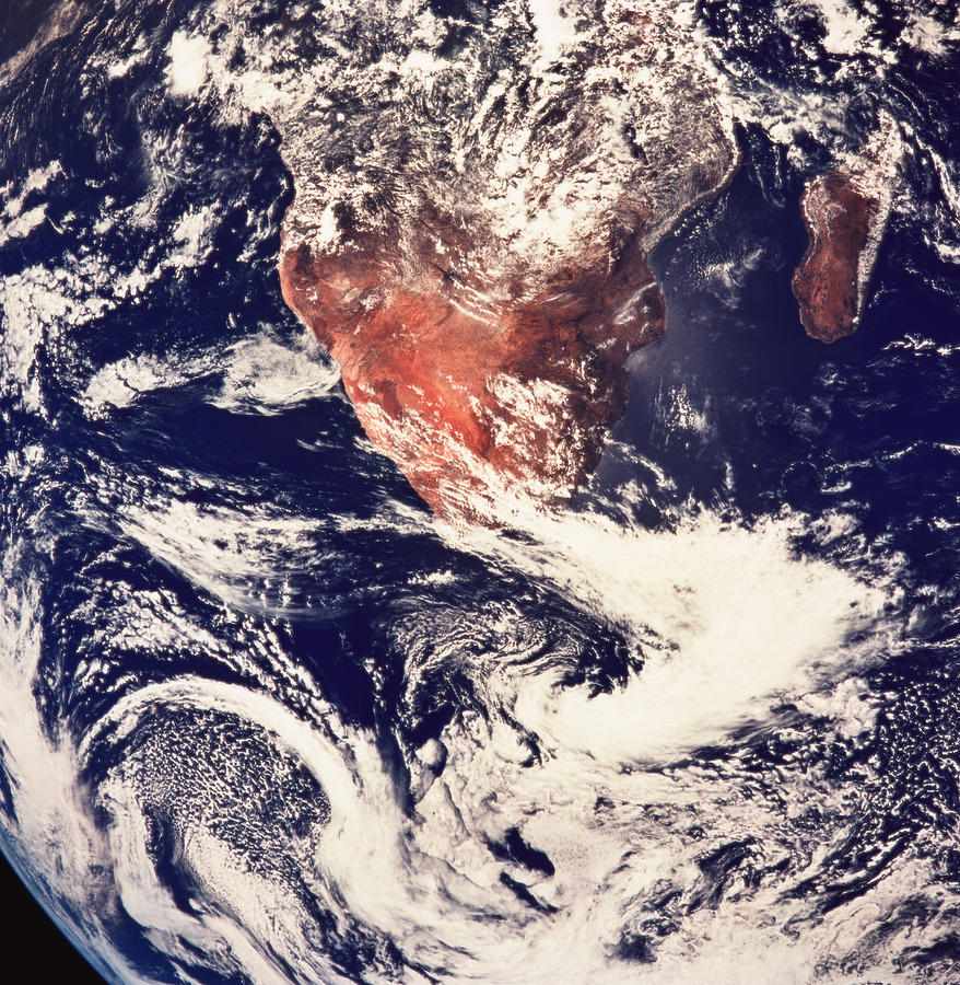 Weather Systems Above Earth Viewed From Photograph by Stockbyte