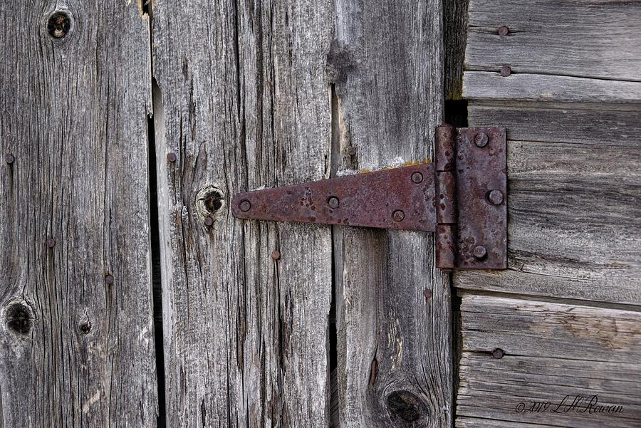 Weathered Photograph - Weathered Barn Hinge Detail by Images Undefined