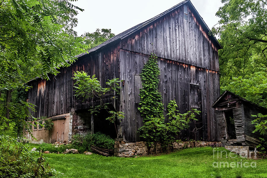 weathered barn photograph by michael riha