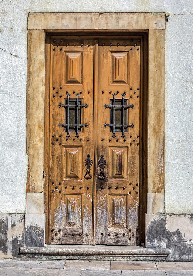 Weathered Brown Door of Portugal by David Letts