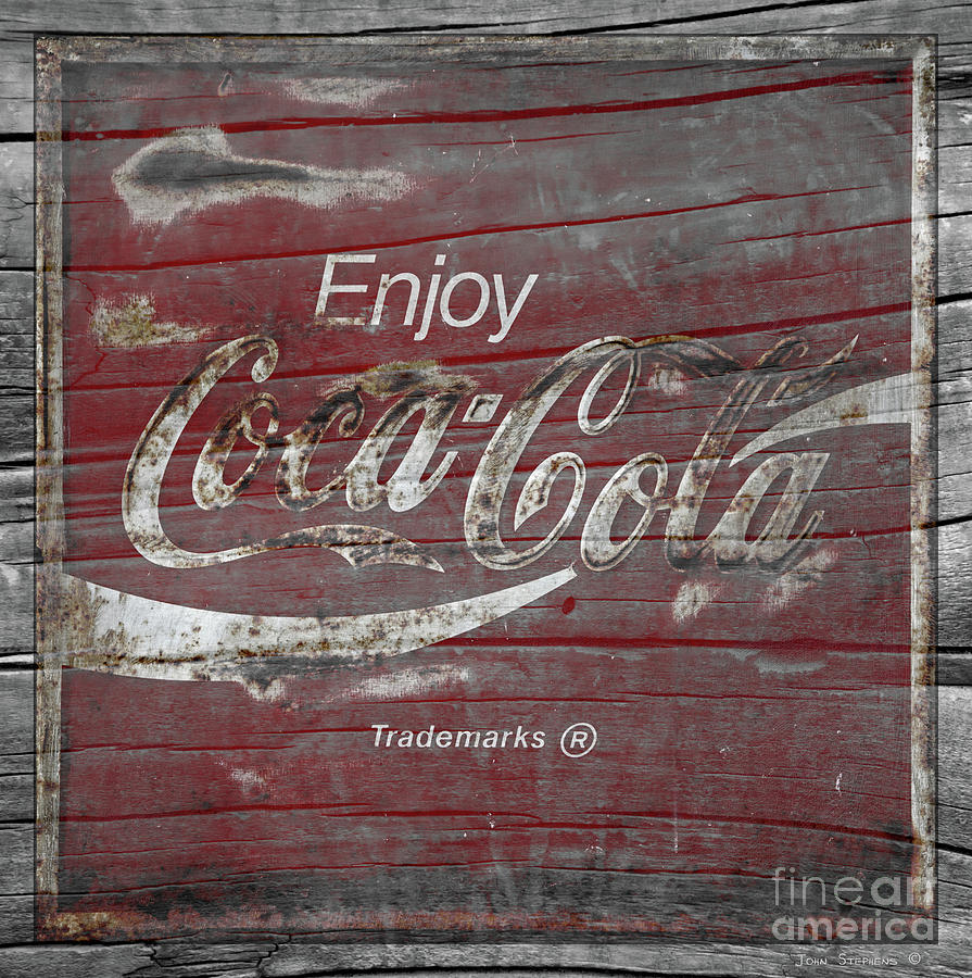 Coca Cola Photograph - Weathered Coca Cola Sign by John Stephens
