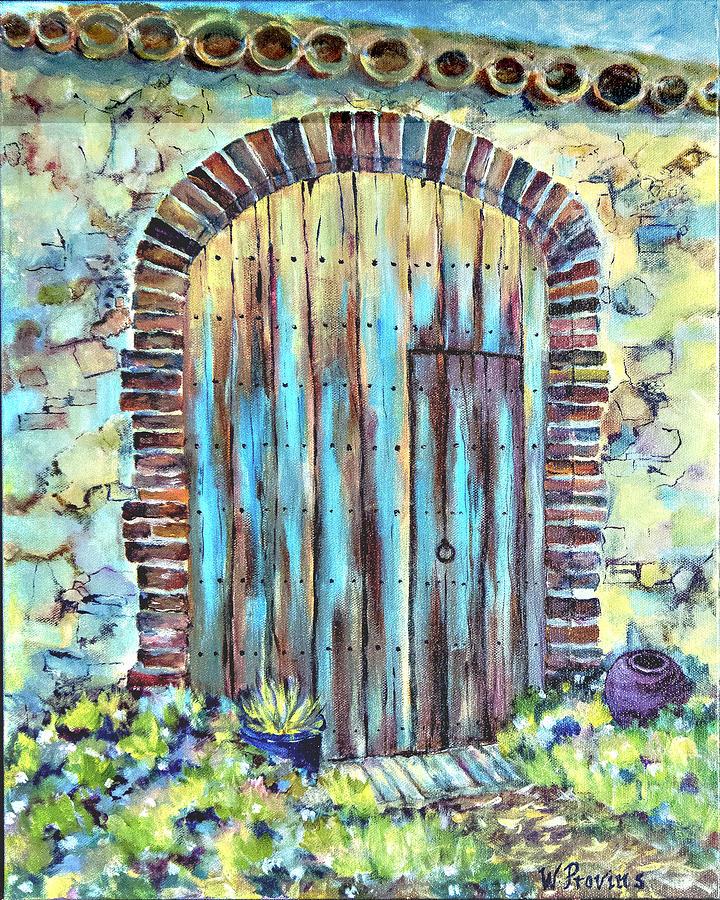Weathered European Door by Wendy Provins