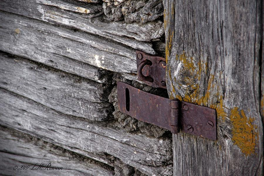 Weathered Photograph - Weathered Padlock Hasp Detail by Images Undefined