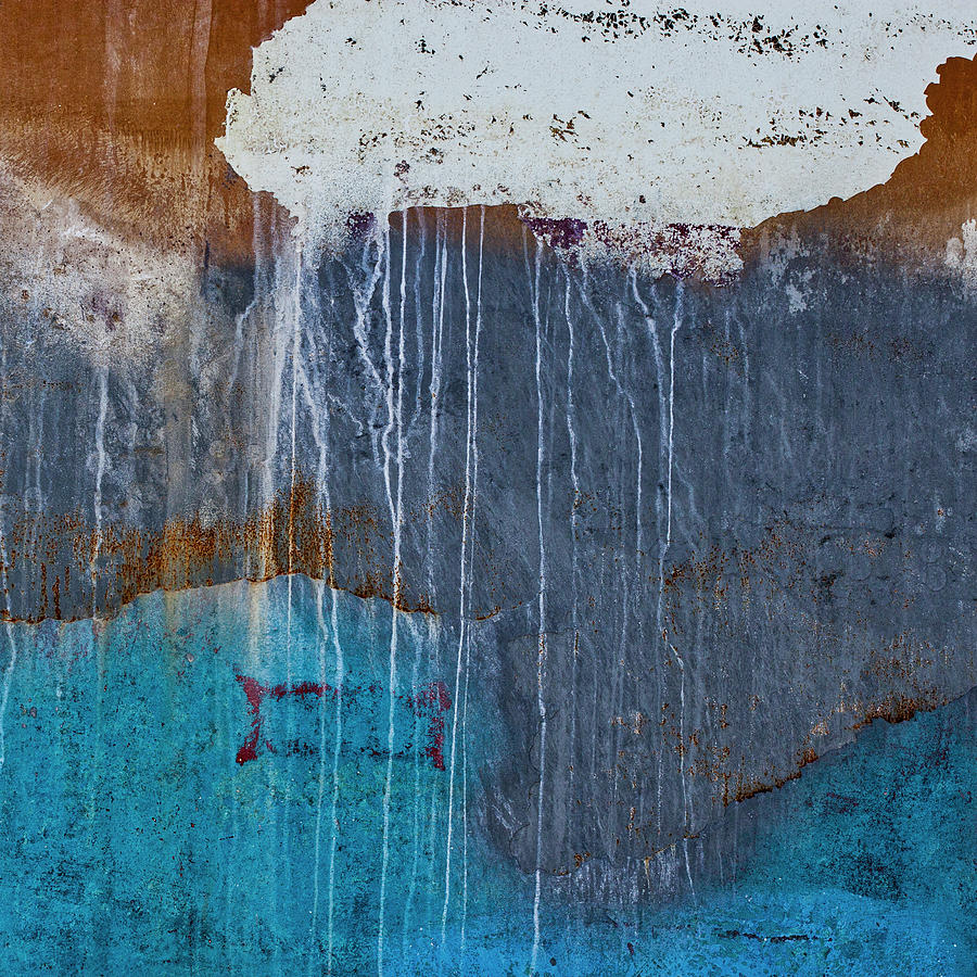 Abstract Photograph - Weathered Paint Detail by Carol Leigh
