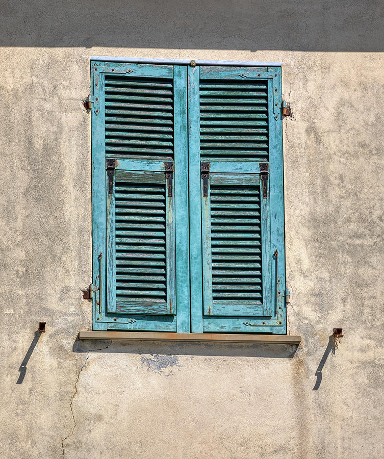 Weathered Window of Cinque Terre by David Letts
