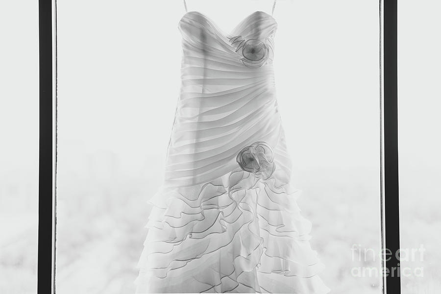 Wedding Dress In Black Frame Photograph by Matt Corkum