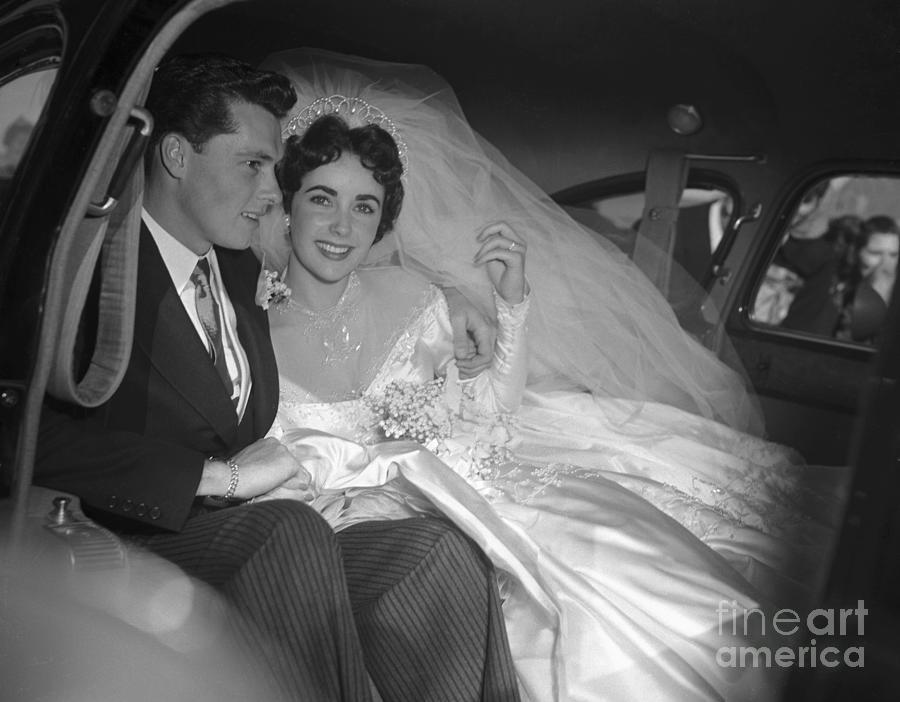 Wedding Of Elizabeth Taylor And Conrad Photograph by Bettmann