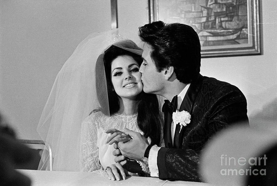 60s priscilla presley wedding dress