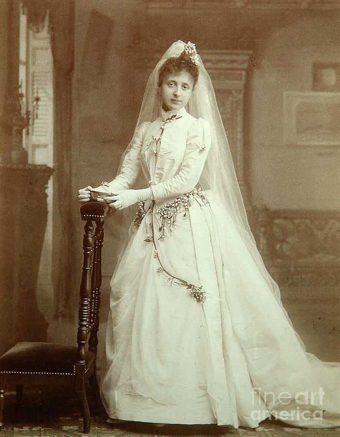 Wedding Portrait, 1880s Drawing by Heritage Images