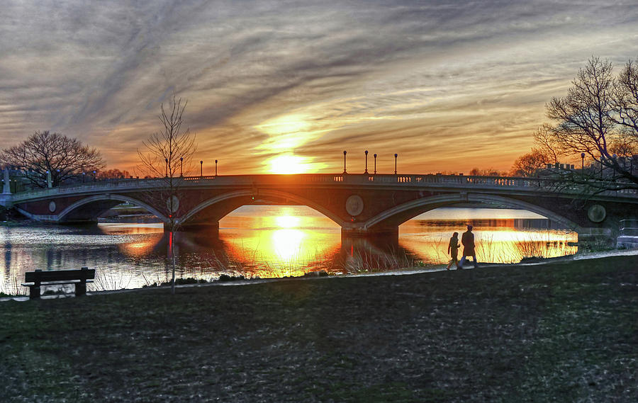 Weeks Bridge at Sunset by Wayne Marshall Chase