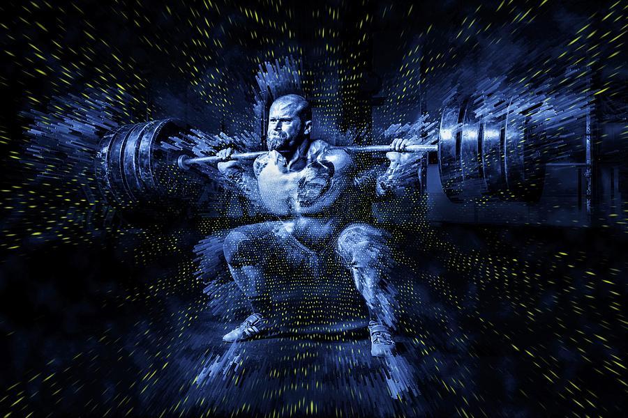 Weightlifting Digital Art - Weight Lifting by ArtMarketJapan