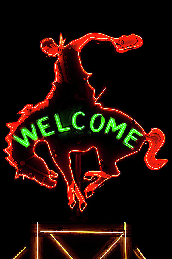Welcome Neon Cowboy by Michael Morse