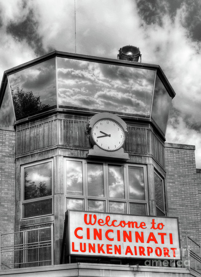 Welcome To Cincinnati Selective Color by Mel Steinhauer