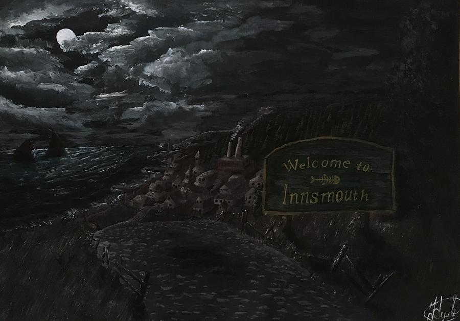 Lovecraft Painting - Welcome to Innsmouth by Valentine Kulakov