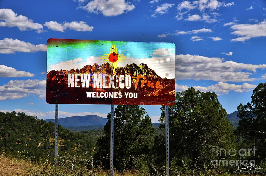 Landscapes Photograph - Welcome To New Mexico by David Burks