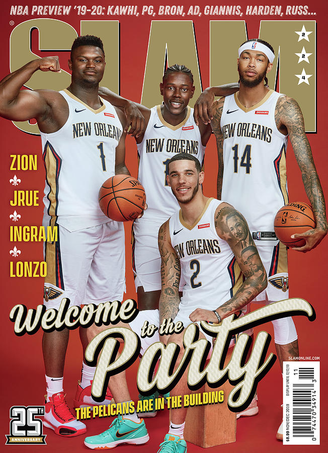 Welcome to the Party: The Pelicans are in the Building SLAM Cover Photograph by Matthew Coughlin