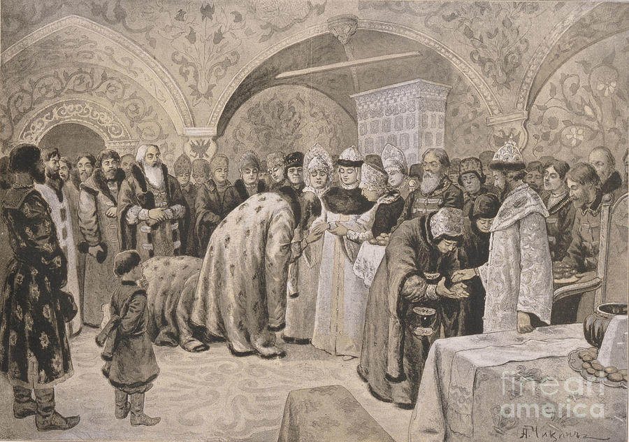 Welcome To The Tsarina After The Easter Drawing by Heritage Images