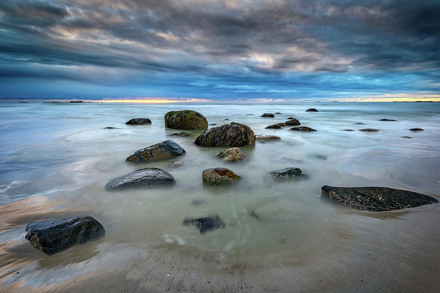 Wells Beach in Blue by Rick Berk