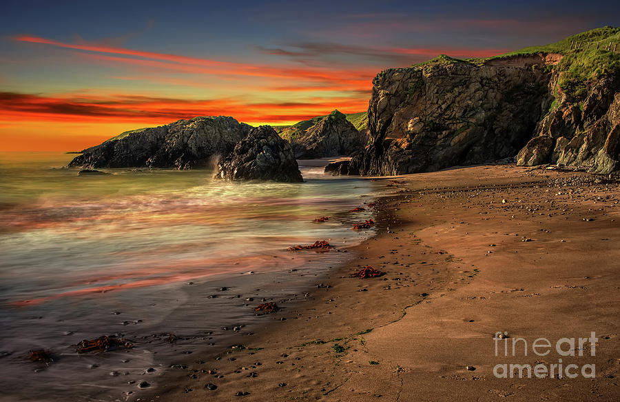Welsh Coast Sunset by Adrian Evans