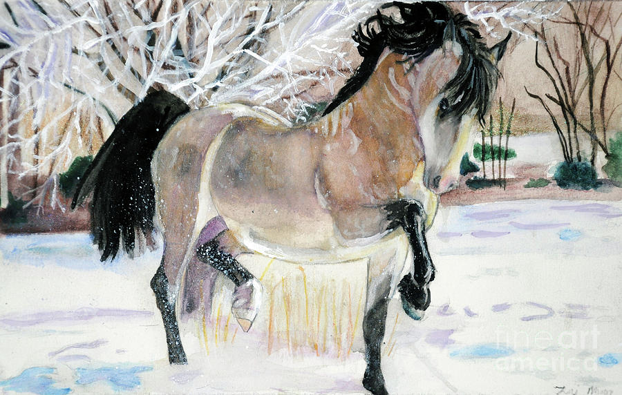Welsh Cob Country Christmas  by Lori Moon