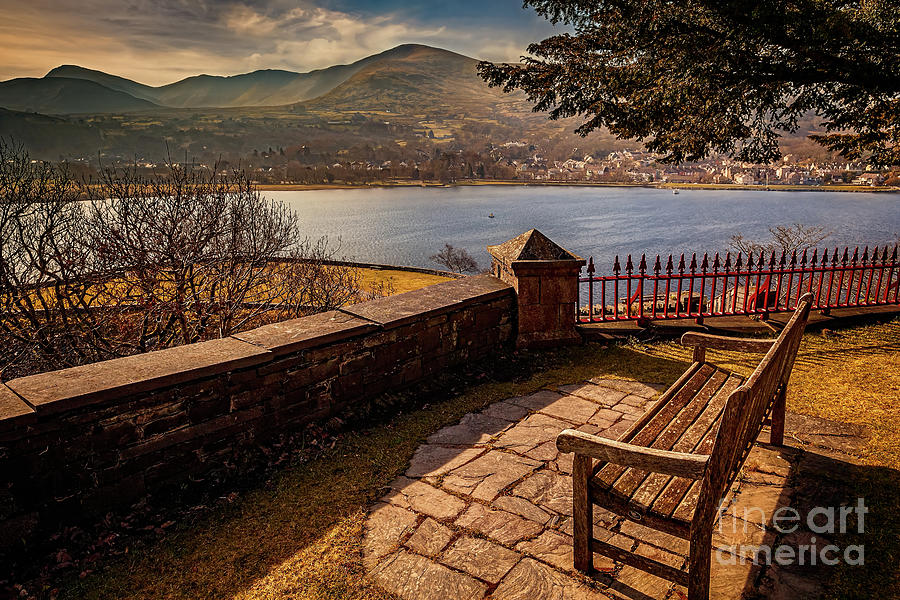 Lake Photograph - Welsh Lake Viewpoint by Adrian Evans