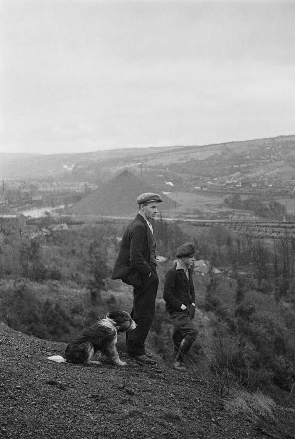 Welsh Miner And Son Photograph by Bert Hardy