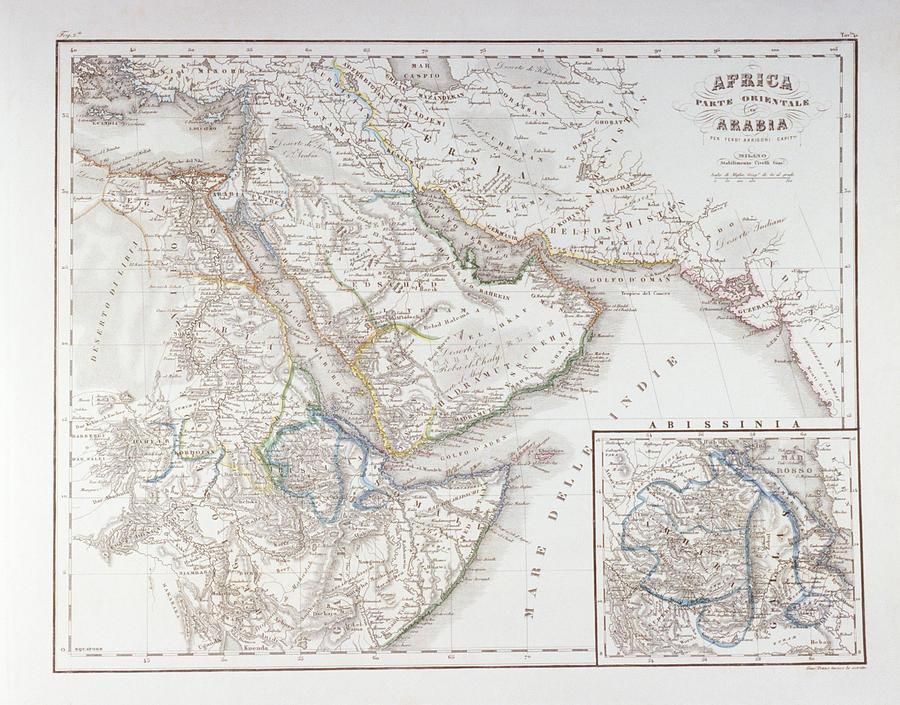 West Africa And Arabia Digital Art by Fototeca Gilardi