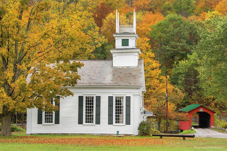 West Arlington Vermont Village Green by T-S Fine Art Landscape Photography