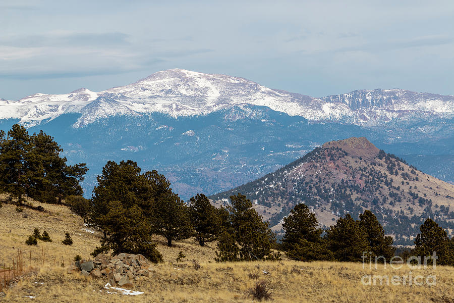 Pikes Peak Photograph - West Face of Pikes Peak by Steven Krull