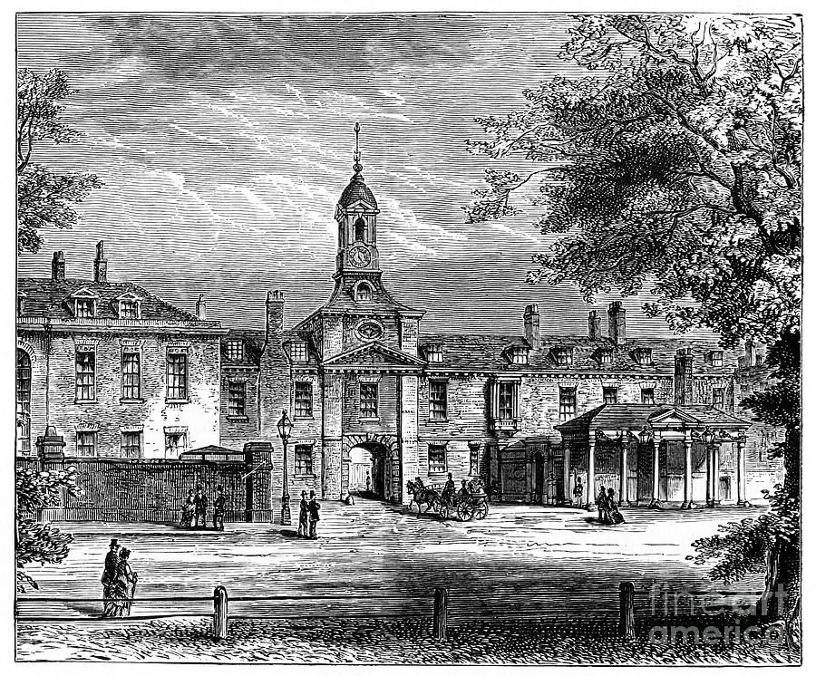 West Front Of Kensington Palace Drawing by Print Collector