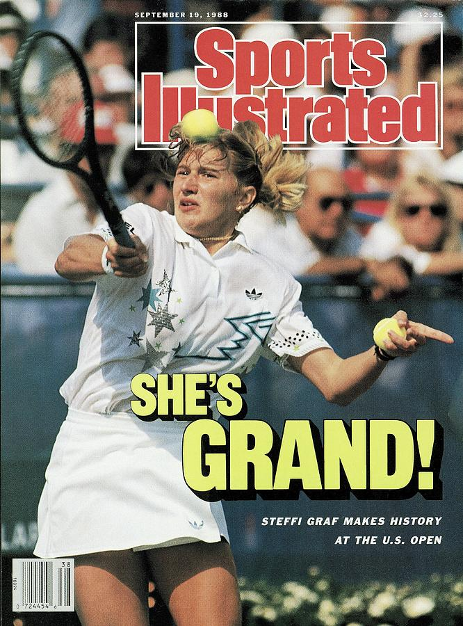 West Germany Steffi Graf, 1988 Us Open Sports Illustrated Cover Photograph by Sports Illustrated